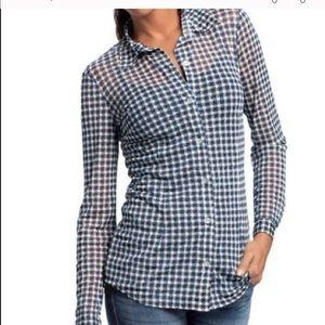 Cabo Sheer long sleeve career blouse